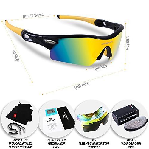 RIVBOS 805 Sunglasses 5 Interchangeable Lenses