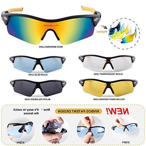 RIVBOS Sunglasses Interchangeable