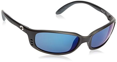 Costa Del Mar Brine Sunglasses BR 11 OBMP Matte Black/Blue M
