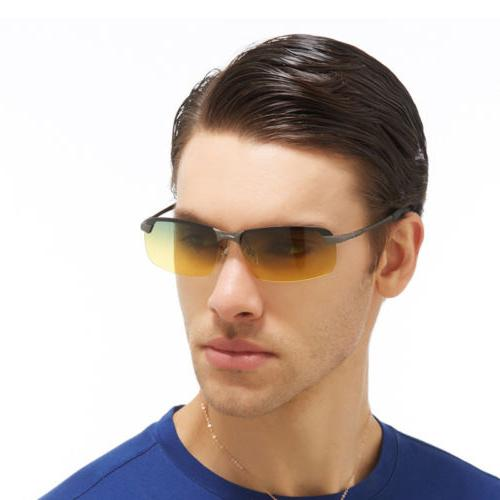 Day Vision Polarized Sunglasses Driving Sports Sun Glasses