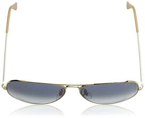 Ray-Ban - GOLD Frame CRYSTAL GRADIENT LIGHT 58mm Non-Polarized