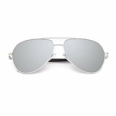 aviator mirror uv400 polarized sunglasses for men