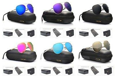 Luenx Aviator Sunglasses for Women Polarized With Case Uv 40