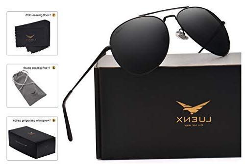 aviator sunglasses men women polarized with case