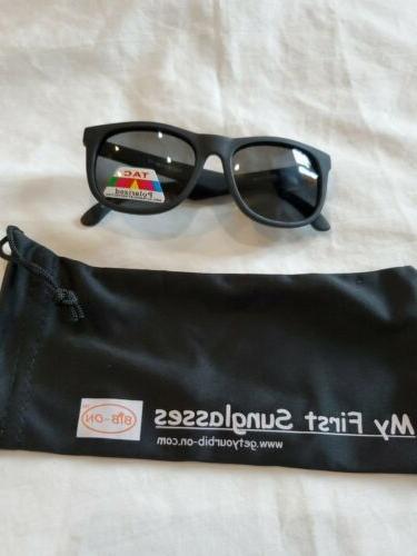 baby my best first sunglasses bib on