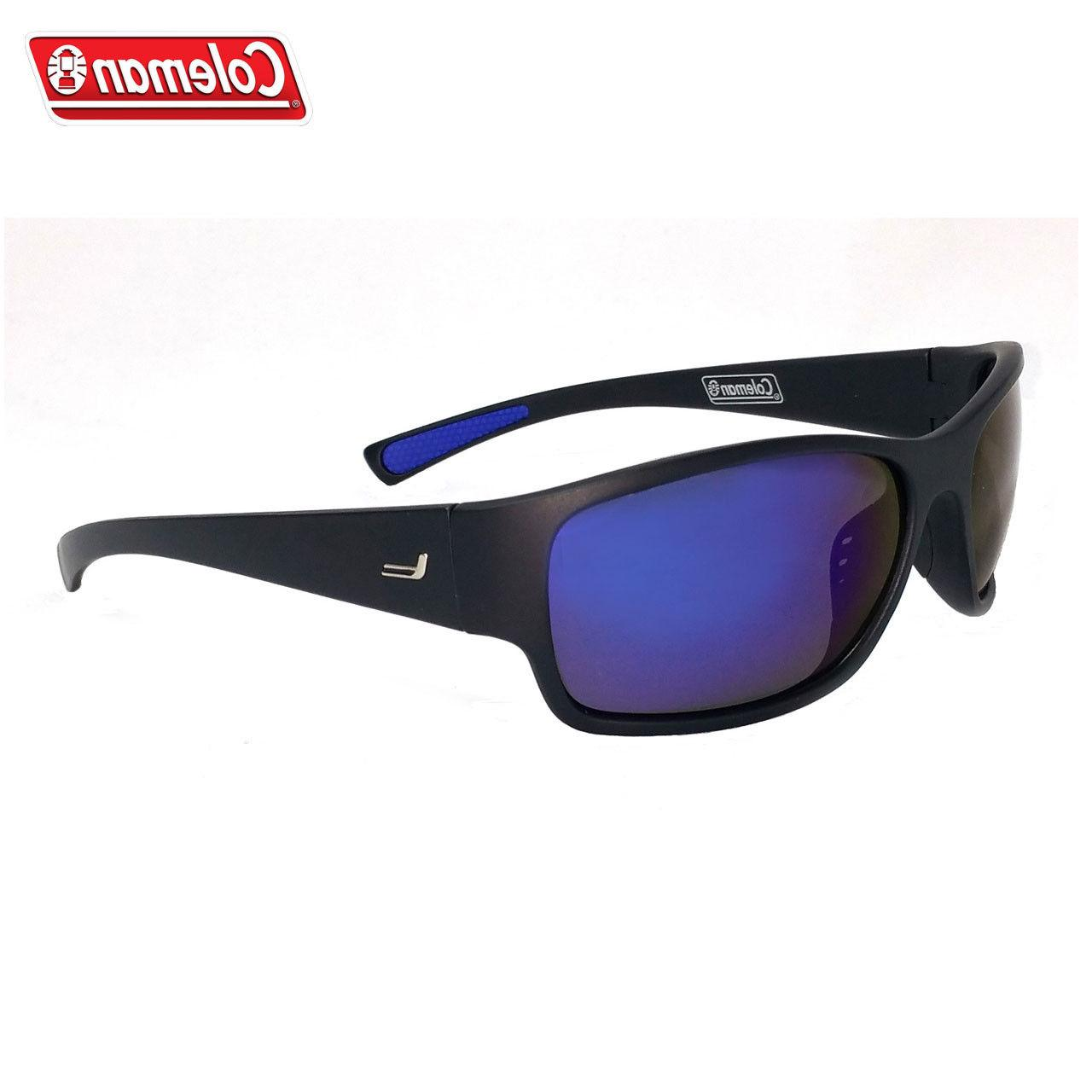 backpacker polarized sunglasses black matte blue mirror