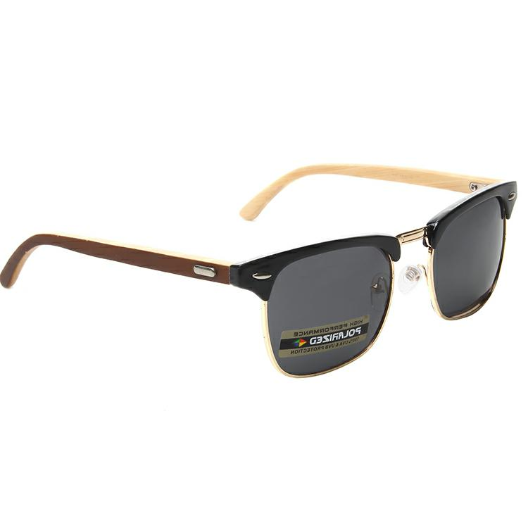 Bamboo Clubmaster Polarized Vintage Classic