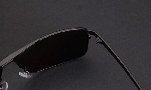 Black Polarized Aviator Men Glasses Sports Driving Uv