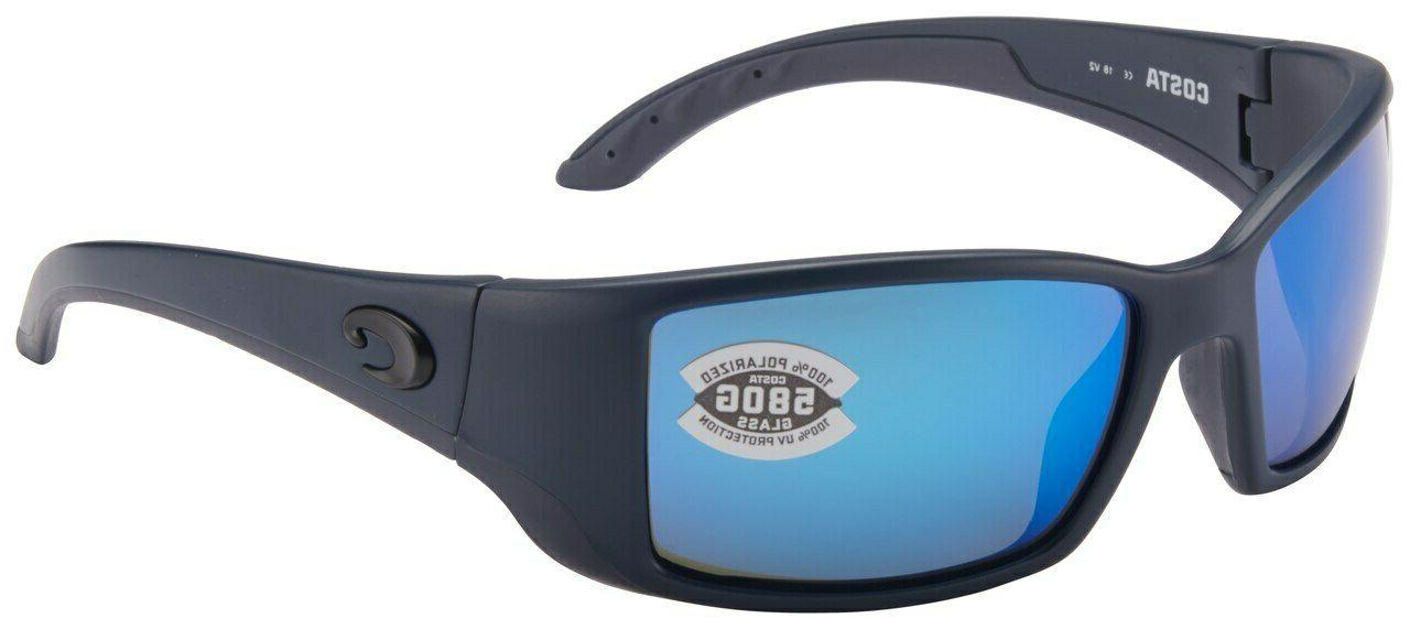 Costa Del Mar Blackfin Matte Gray Frame Blue Mirror 580G Gla