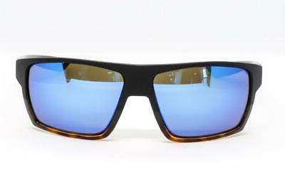 Costa Del Mar Bloke 400G Sunglasses Matte Black//Tortoise//Blue Mirror 400G Glass