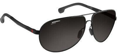 Carrera Men's 8023/s Polarized Aviator Sunglasses, Matte Bla