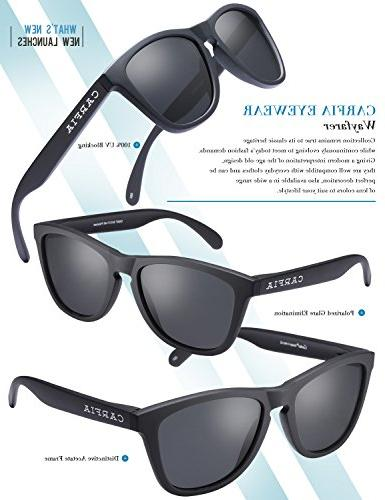 Carfia Sunglasses UV400 for Women and TR90 Unbreakable