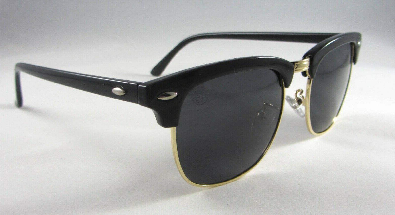 Dimsun Classic Eyewear: Polarized Black/Gold Premium