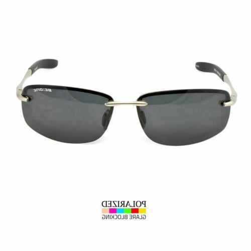 Classic Polarized Fashion Sunglasses Glasses Rimless