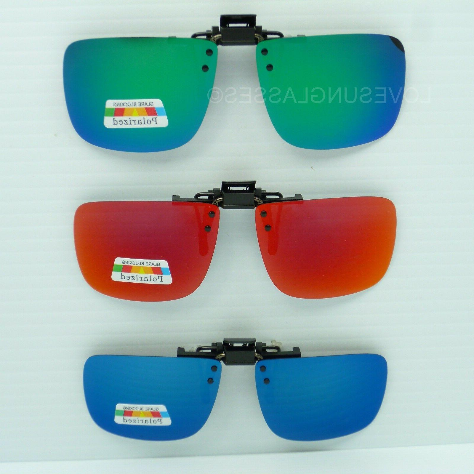 clip on flip up sunglasses color mirror