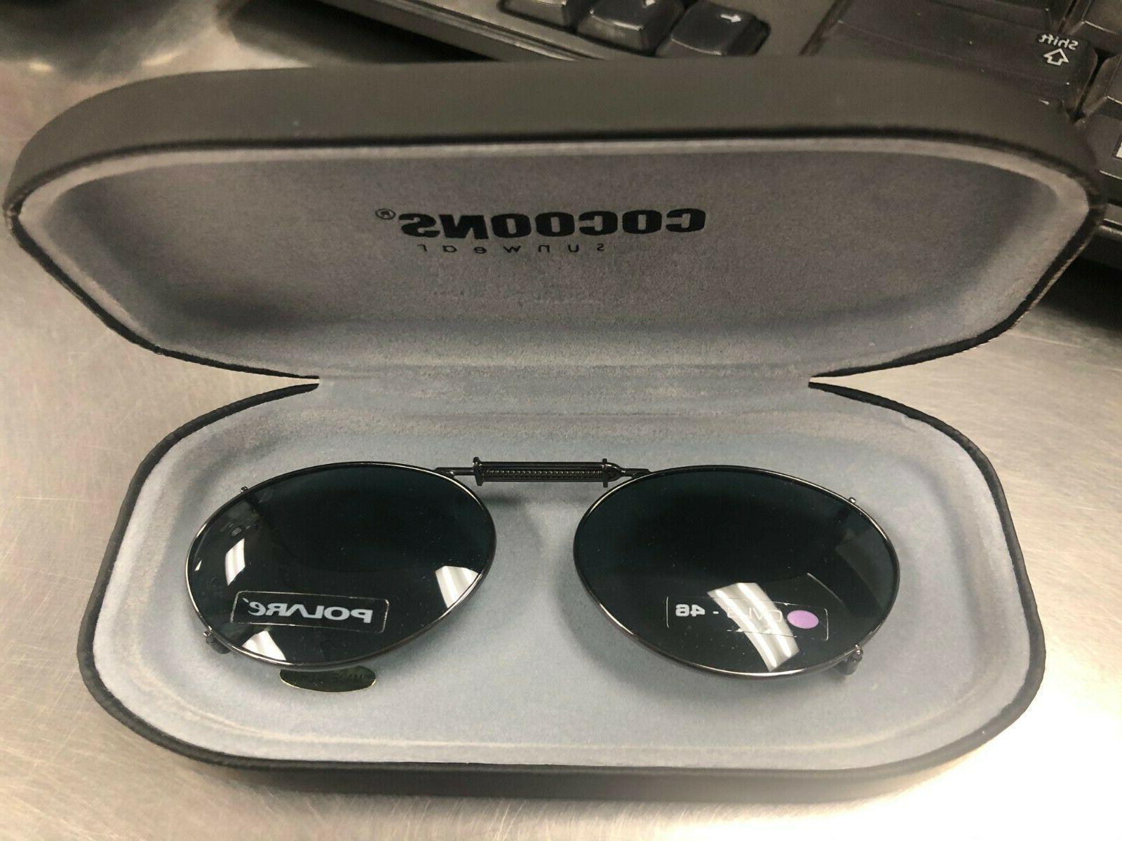 clip on sunglasses ov3 46 gunmetal