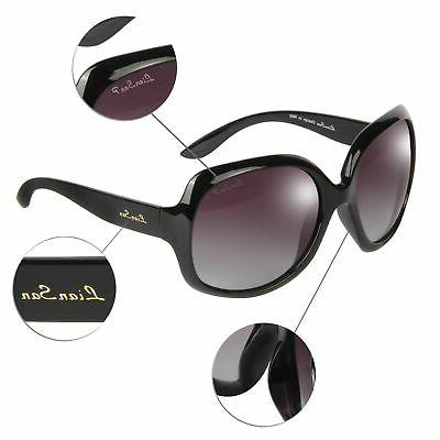 Liansan Vintage Oversized Women's Polarized Sunglasses