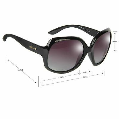 Oversized Frame Polarized Sunglasses