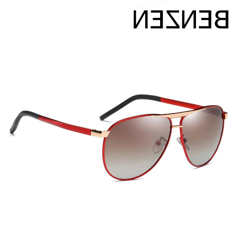 BENZEN <font><b>Polarized</b></font> <font><b>Sunglasses</b></font> Metal Frame Avaition Glasses UV Driver Shades