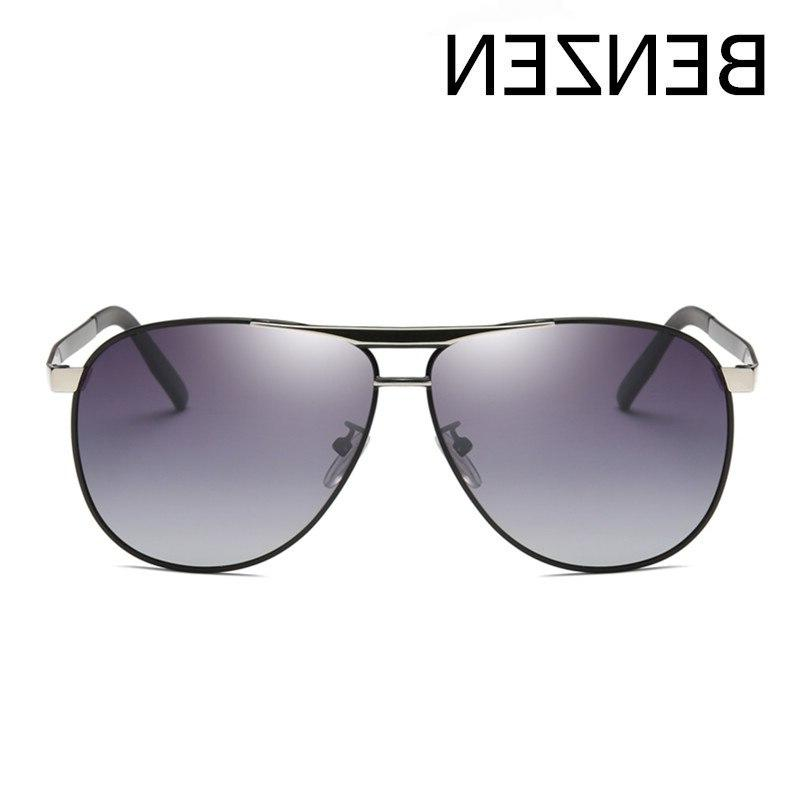 Metal Avaition Sun Glasses Male UV Driver Shades With