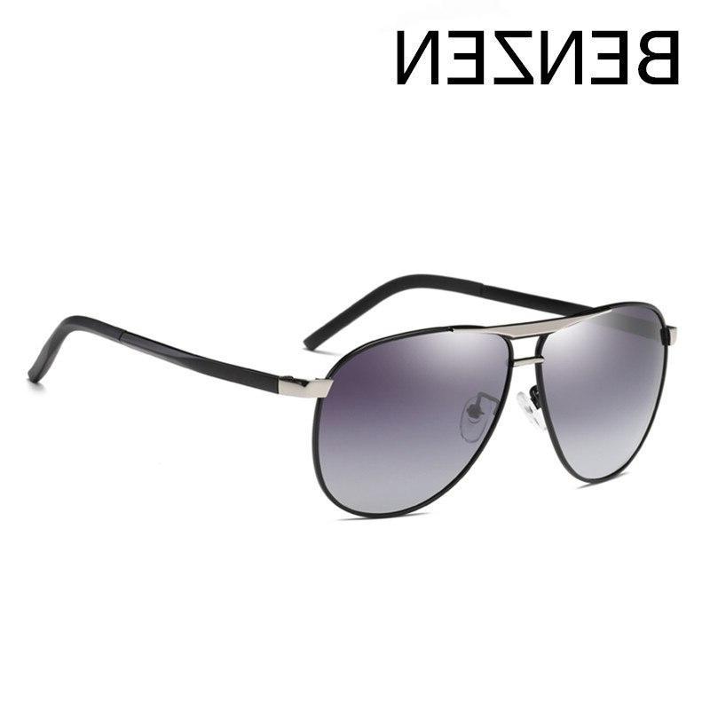 BENZEN <font><b>Polarized</b></font> Men Metal Frame Glasses Driver Driving Glasses Gafas Shades