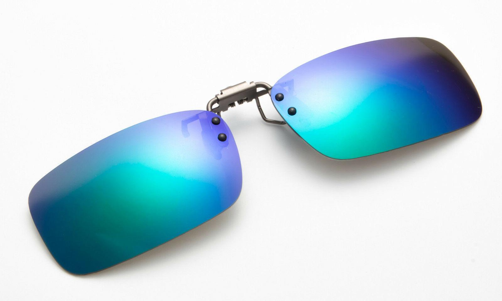 green clip on sunglasses polarized flip up