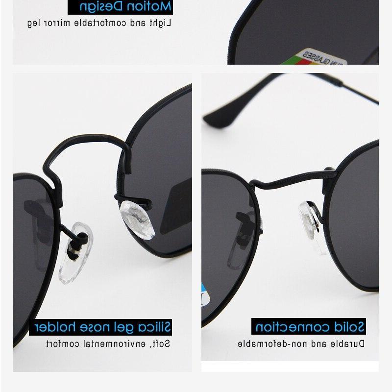 Hexagon Men designer <font><b>Mirror</b></font> Eyewear Brand glasses