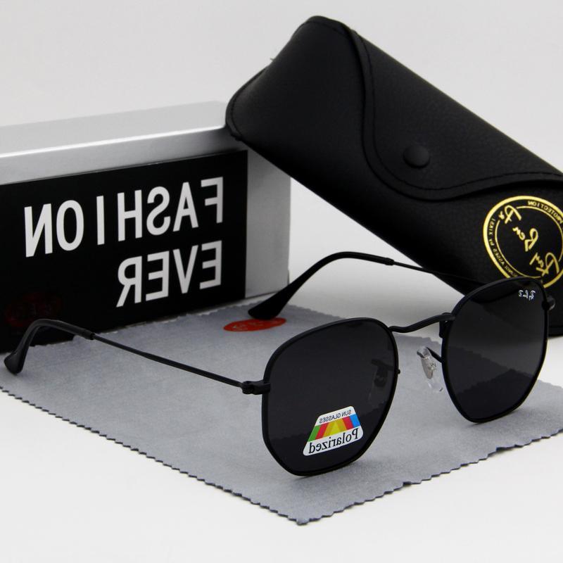 hexagon glasses fashion font b sunglasses b