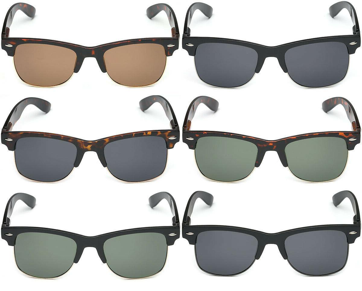 Large Polarized Retro Vintage Sunglasses Big