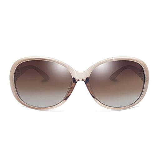 VeBrellen Luxury Women Polarized Sunglasses Retro Goggles