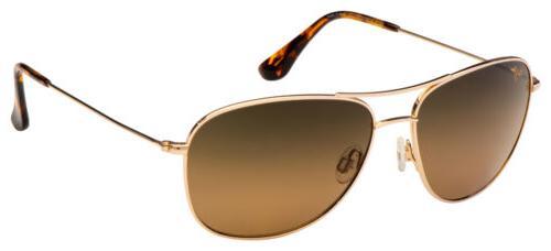 Maui Jim Maui Mavericks HS264-16 Gold Unisex Sunglasses Pola