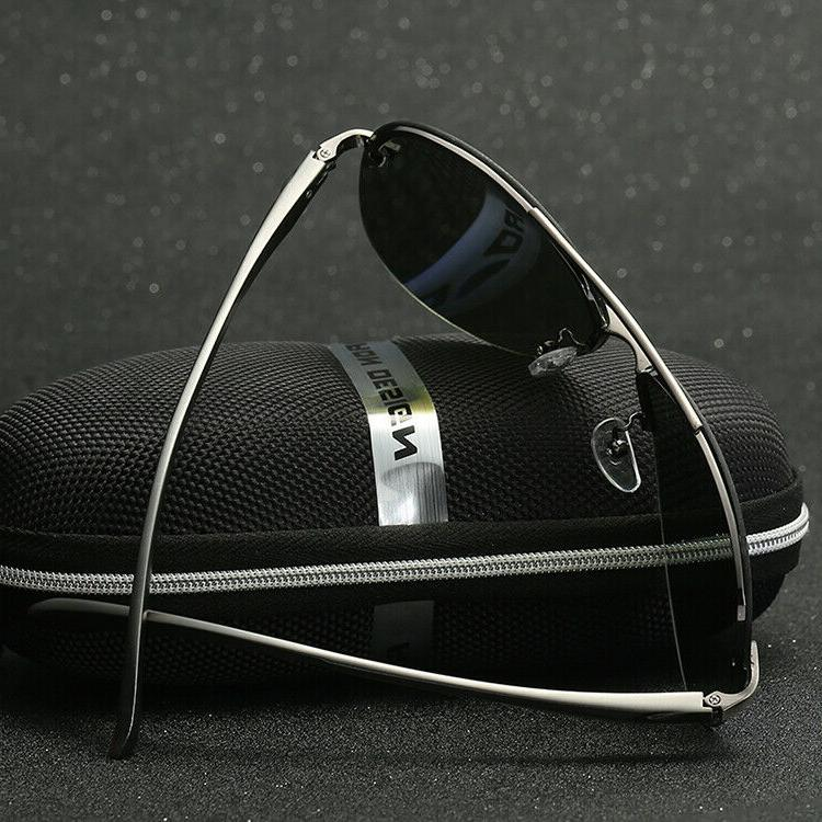 Men's Aviator Pilot Mirrored Lens Sunglasses