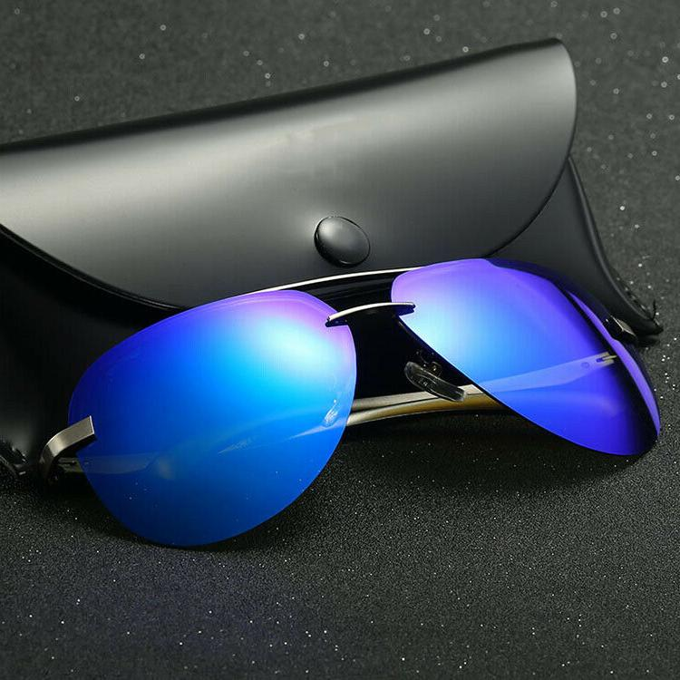 Men's Mirrored UV400 Sunglasses w/