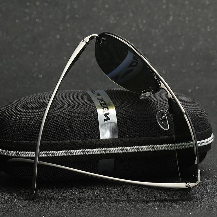 Men's Mirrored Lens Driving Sunglasses