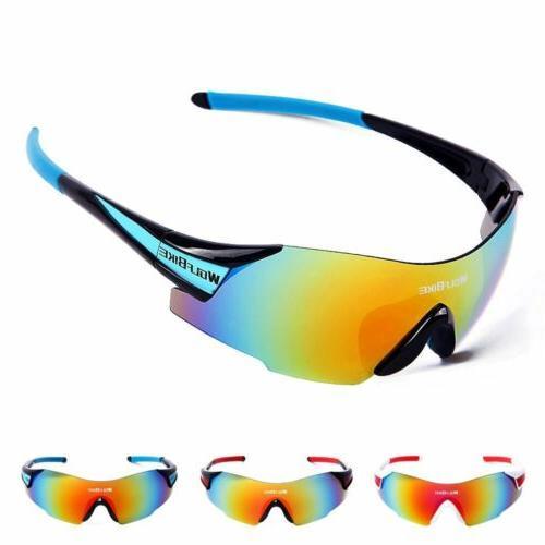 Men Women  Anti-Fog UV400 Protection Cycling Sunglasses Outd