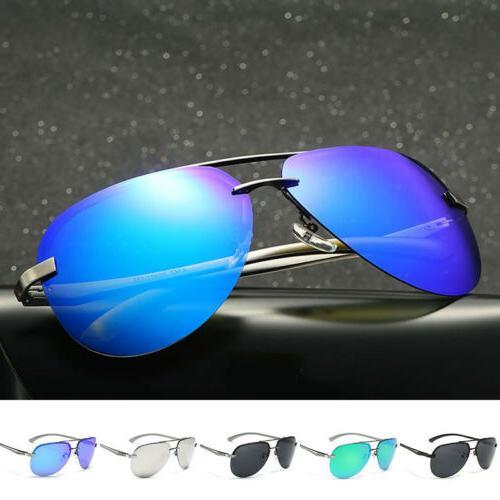 men women vintage retro aviator sunglasses mirrored