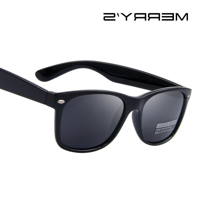 MERRY'S Men Polarized Sunglasses Classic Men Retro Rivet Sha