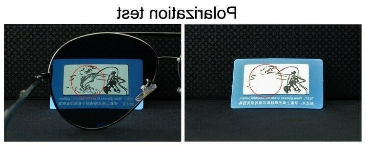 Metal Polarized Sunglasses Sport Wrap Eyewear