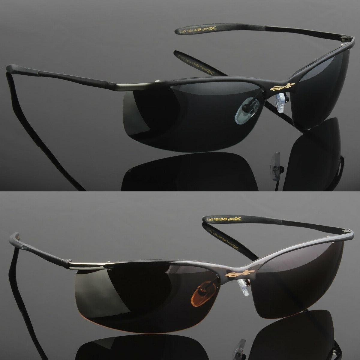 metal men polarized sunglasses sport wrap around