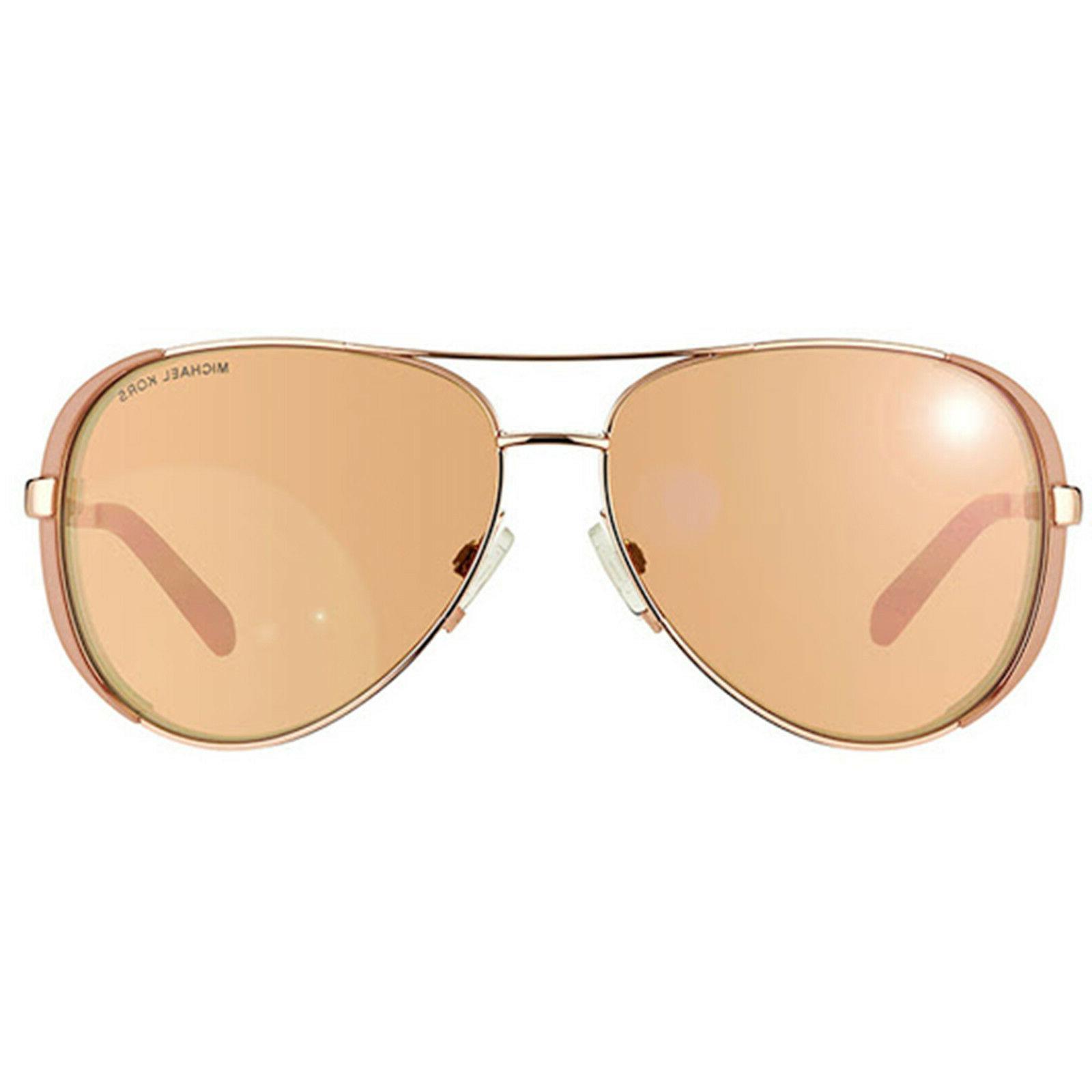 Michael Kors MK5004 Rose Gold Mirror Taupe Aviator Chelsea S