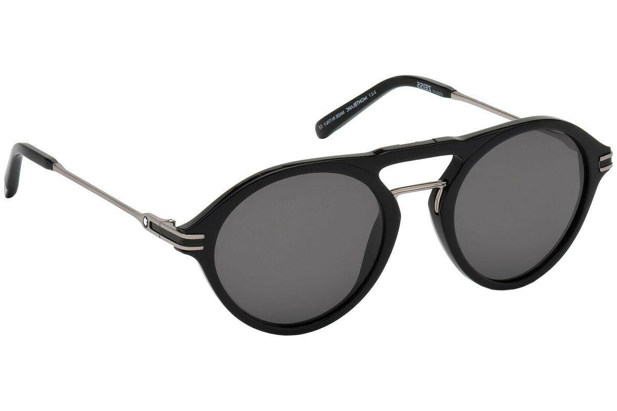 Mont Blanc MB716S 01D Zeiss Plastic Round Sunglasses