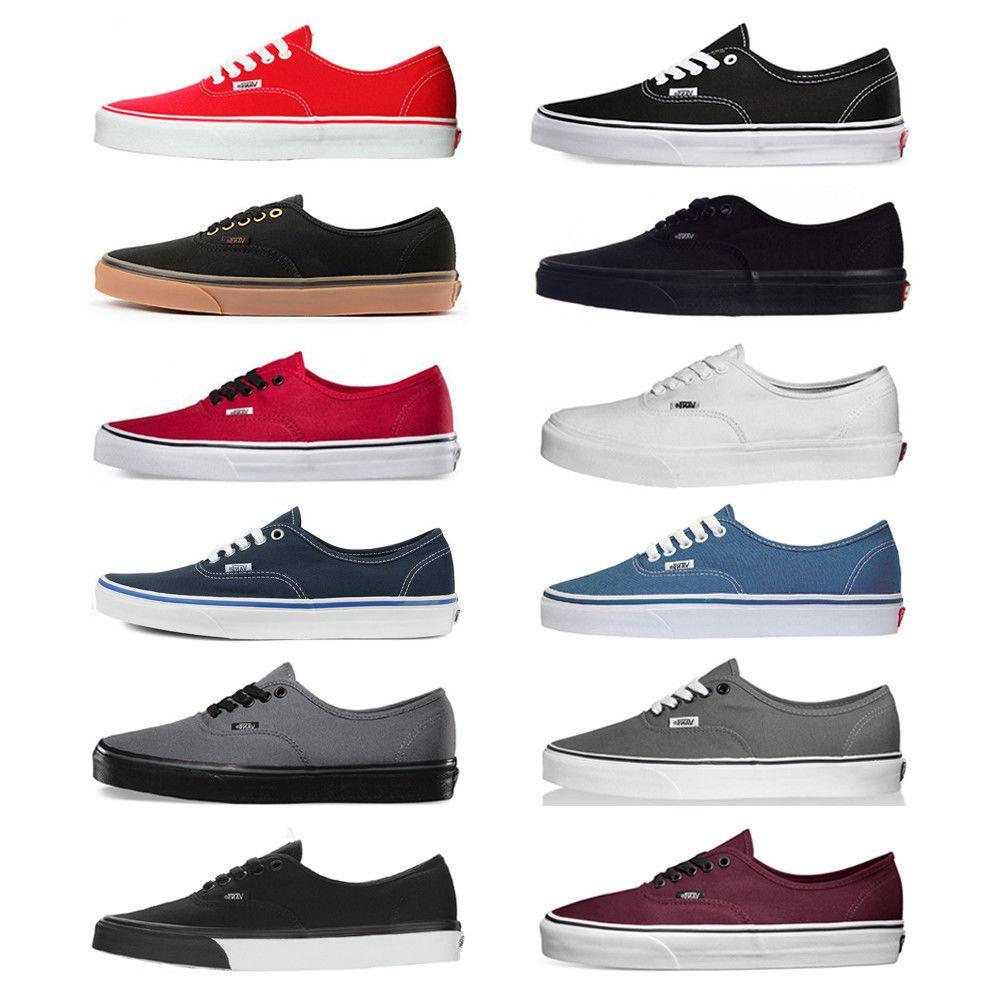 Vans New Authentic Era Classic Sneakers Unisex Canvas Shoes