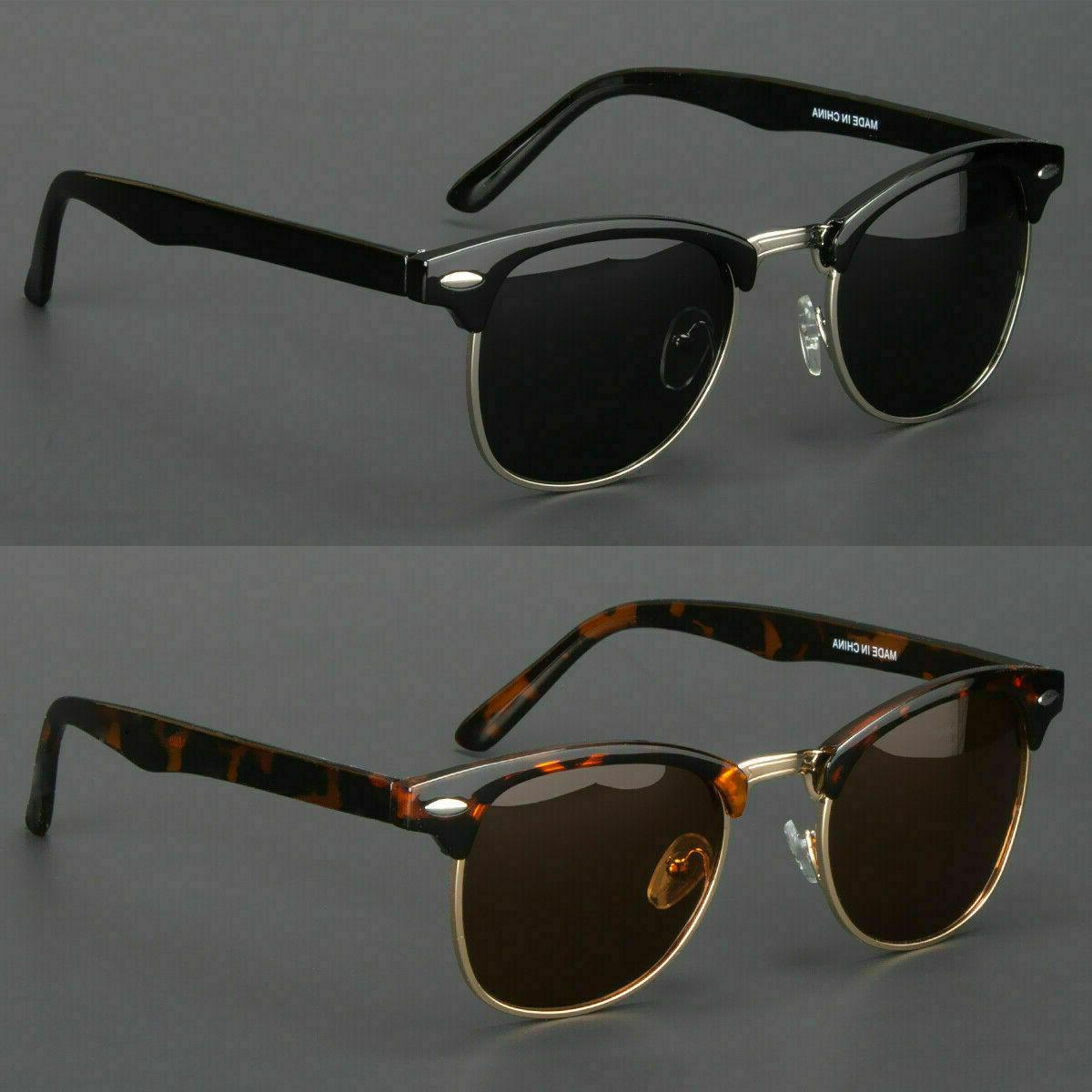 New Polarized Retro Sunglasses Mens Womens Vintage Designer