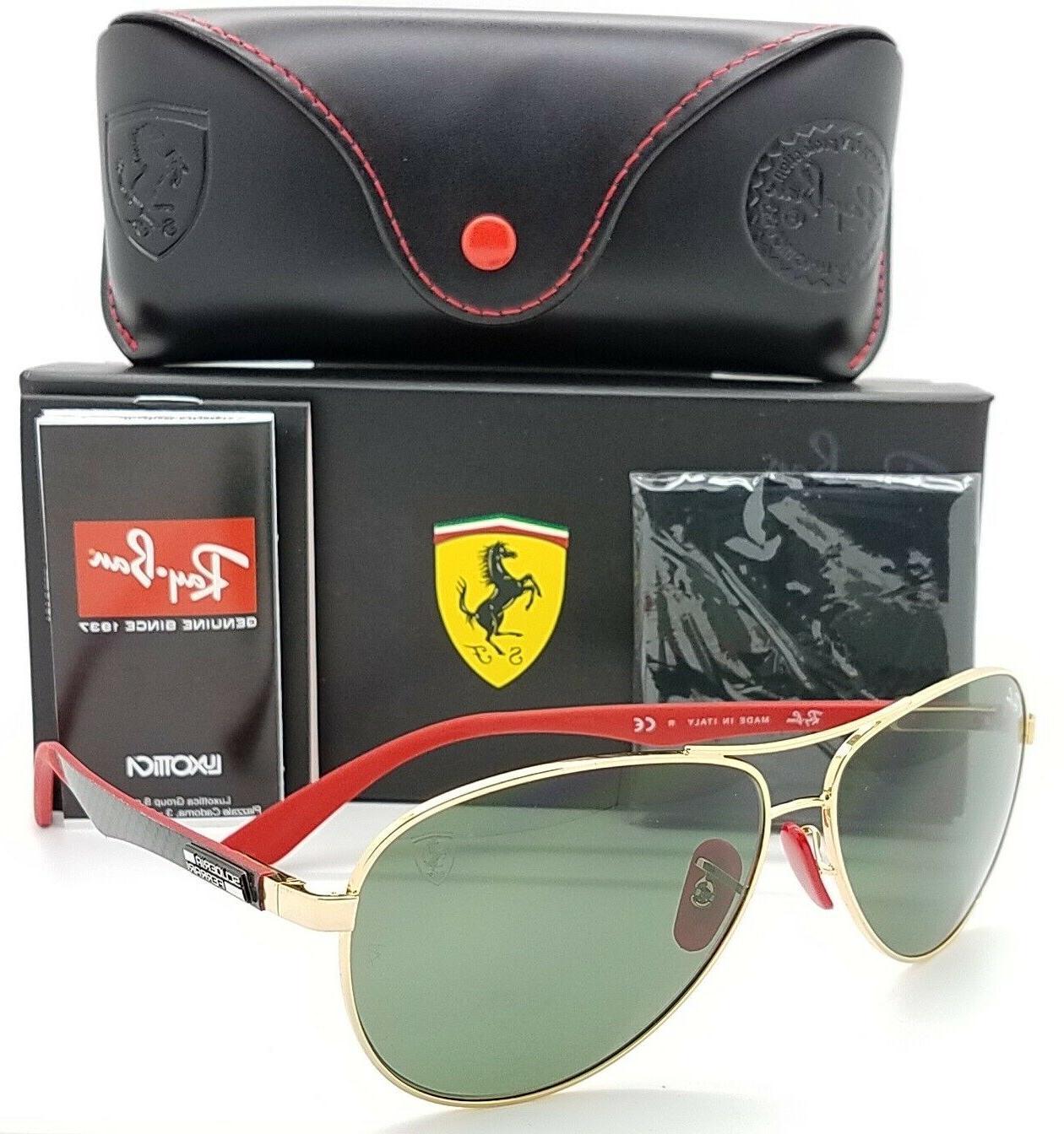 NEW Rayban Ferrari sunglasses RB8313M F00871 Gold G15 Aviato