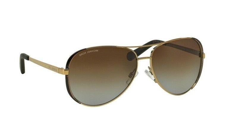 NWT Kors MK 1014T5 Polarized Gold / Brown 59mm