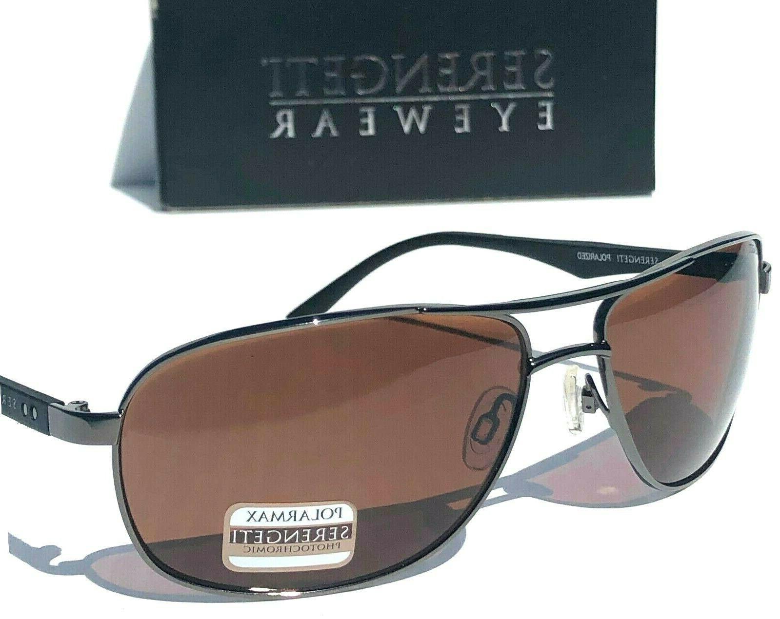 Serengeti Owings 8512 Shiny Gunmetal Polarized Sunglasses *** FREE SHIPPING ***