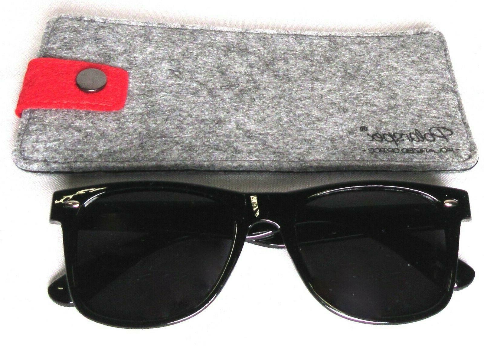 POLARSPEX Polarized Retro Sunglasses Black UV 400 PSX01-BK-SMK