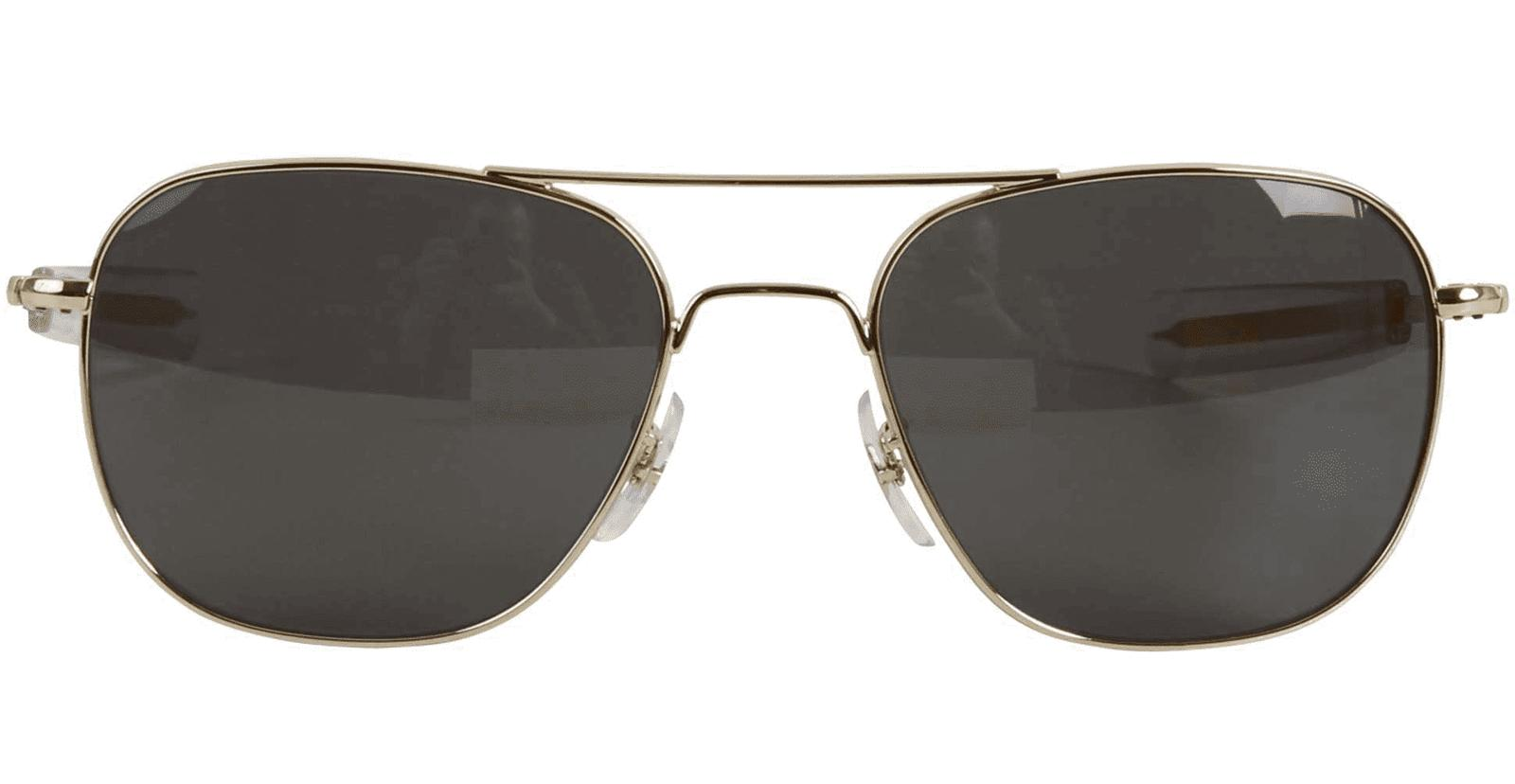 polarized gold 55mm air force pilots sunglasses
