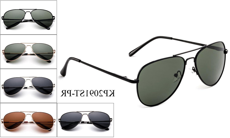 Polarized Kids Aviator Sunglasses Stainless Steel Frame Boys