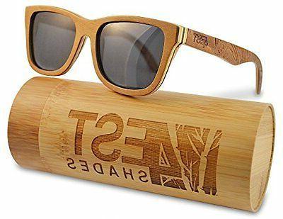 ca4524df21538 4est Shades Polarized Lenses Wood Sunglass Brown Maple